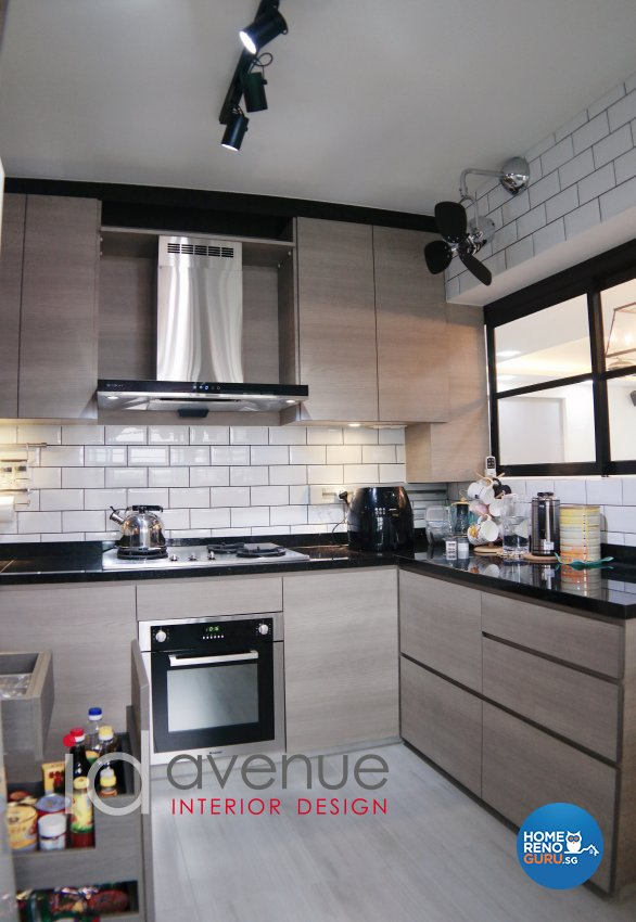 Industrial, Modern Design - Kitchen - HDB 5 Room - Design by ID Avenue Pte Ltd (Interior Design Avenue)