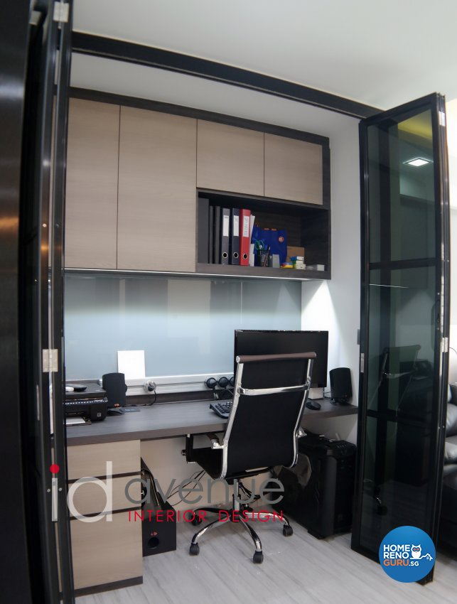 Industrial, Modern Design - Study Room - HDB 5 Room - Design by ID Avenue Pte Ltd (Interior Design Avenue)