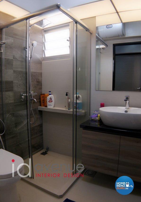 Industrial, Modern Design - Bathroom - HDB 5 Room - Design by ID Avenue Pte Ltd (Interior Design Avenue)