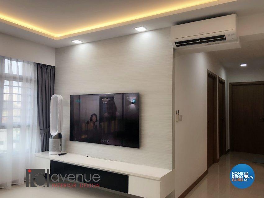 Modern Design - Living Room - HDB 4 Room - Design by ID Avenue Pte Ltd (Interior Design Avenue)