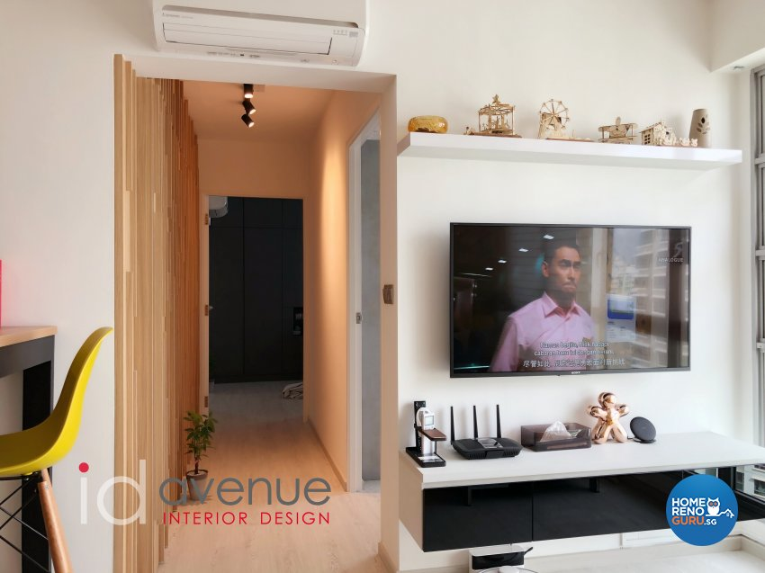 Contemporary, Modern Design - Living Room - HDB 3 Room - Design by ID Avenue Pte Ltd (Interior Design Avenue)