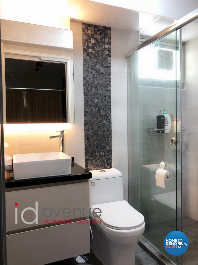 Contemporary, Modern Design - Bathroom - HDB 3 Room - Design by ID Avenue Pte Ltd (Interior Design Avenue)