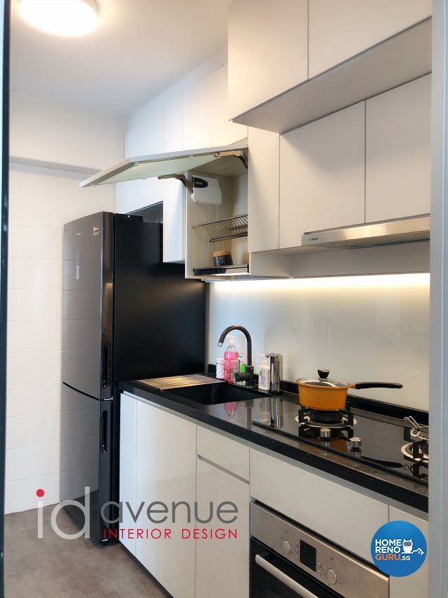 Contemporary, Modern Design - Kitchen - HDB 3 Room - Design by ID Avenue Pte Ltd (Interior Design Avenue)