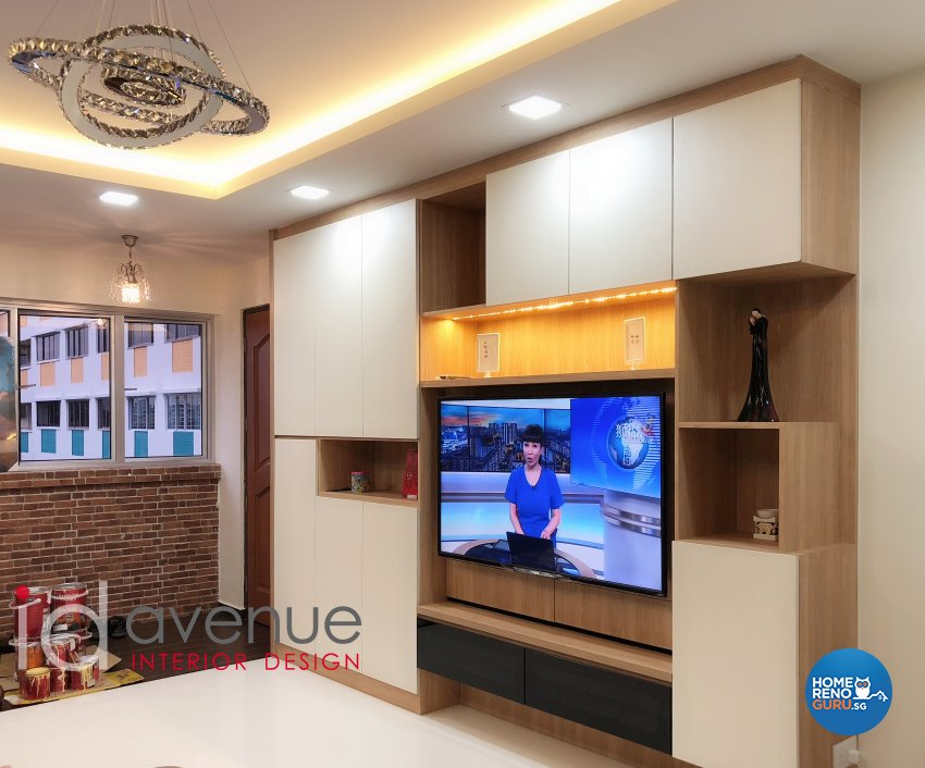 Contemporary Design - Living Room - HDB 5 Room - Design by ID Avenue Pte Ltd (Interior Design Avenue)