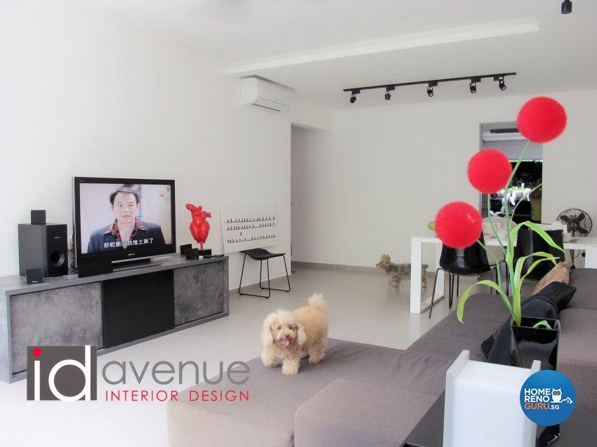 Industrial, Minimalist Design - Living Room - HDB 4 Room - Design by ID Avenue Pte Ltd (Interior Design Avenue)