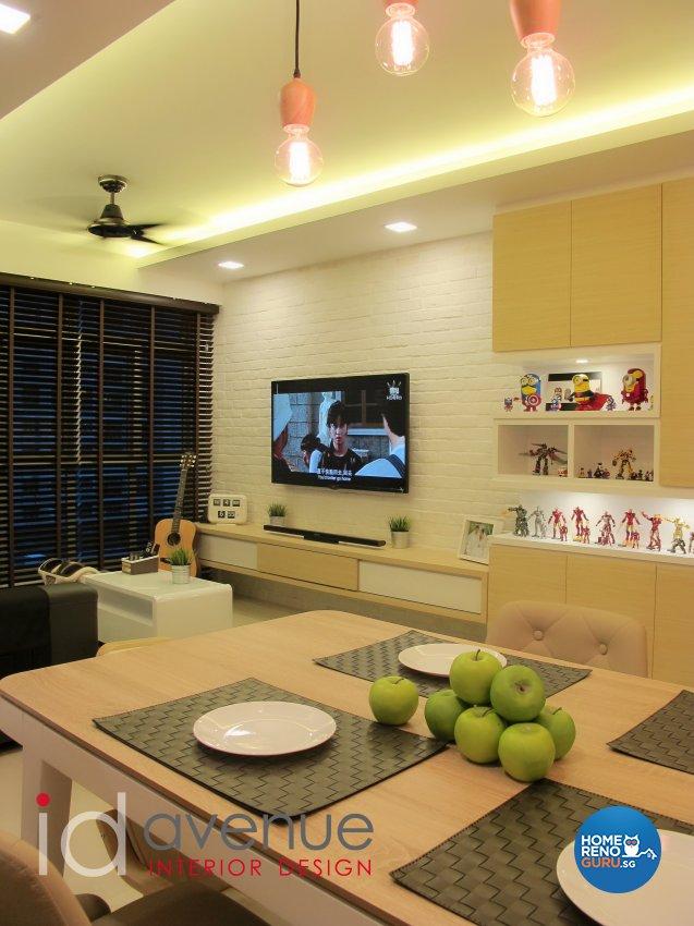 Modern, Scandinavian Design - Living Room - HDB 4 Room - Design by ID Avenue Pte Ltd (Interior Design Avenue)