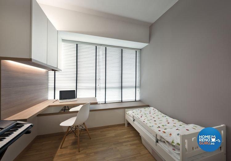 Minimalist, Scandinavian Design - Bedroom - Condominium - Design by Ko Hong Construction Pte Ltd