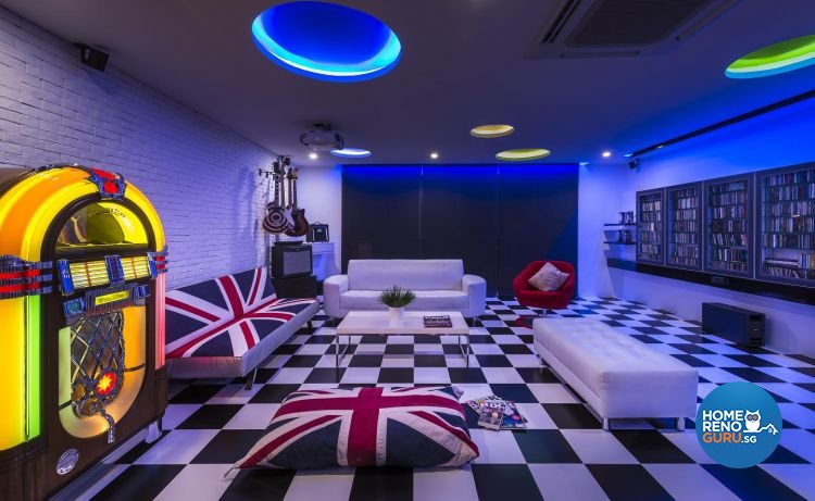 Classical, Eclectic, Modern Design - Entertainment Room - Landed House - Design by Ko Hong Construction Pte Ltd