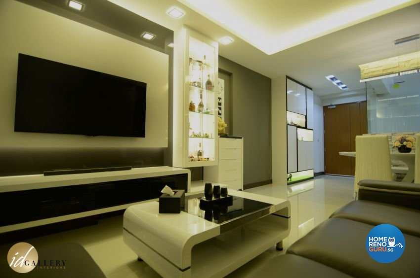 Modern Design - Living Room - HDB 4 Room - Design by ID Gallery Pte Ltd