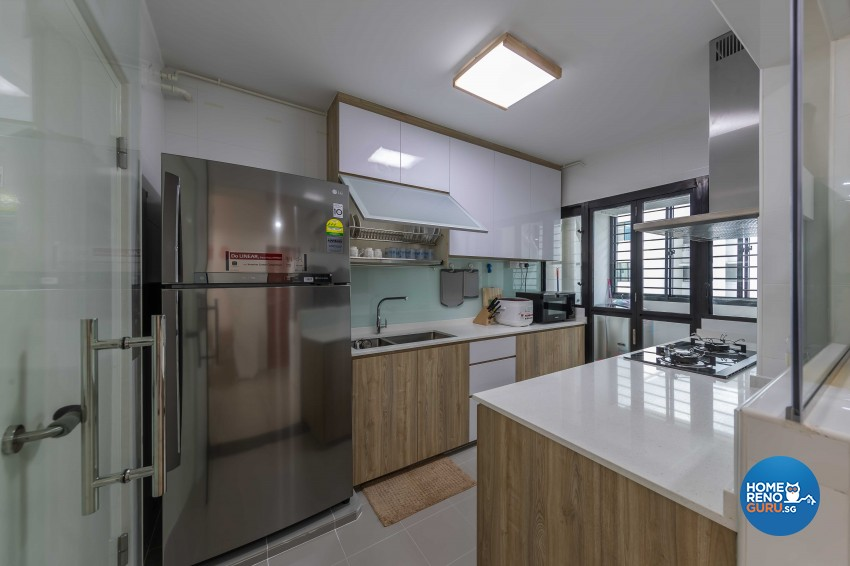 Modern Design - Kitchen - HDB 4 Room - Design by ID Gallery Pte Ltd