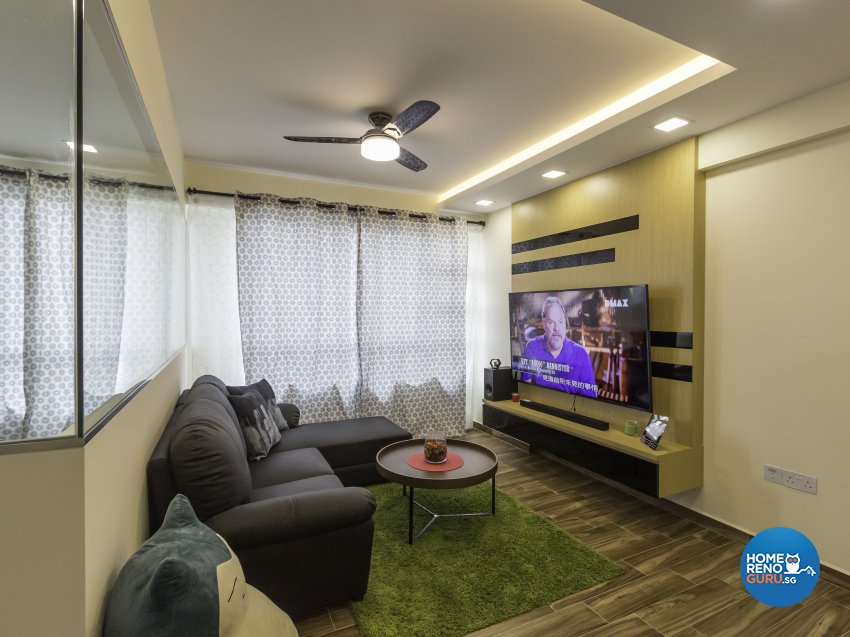 Industrial Design - Living Room - HDB 5 Room - Design by ID Gallery Pte Ltd