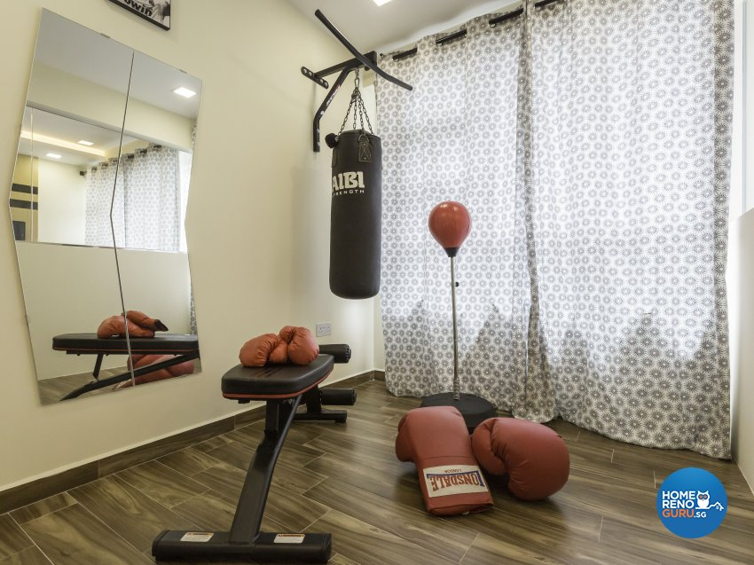 Industrial Design - Entertainment Room - HDB 5 Room - Design by ID Gallery Pte Ltd