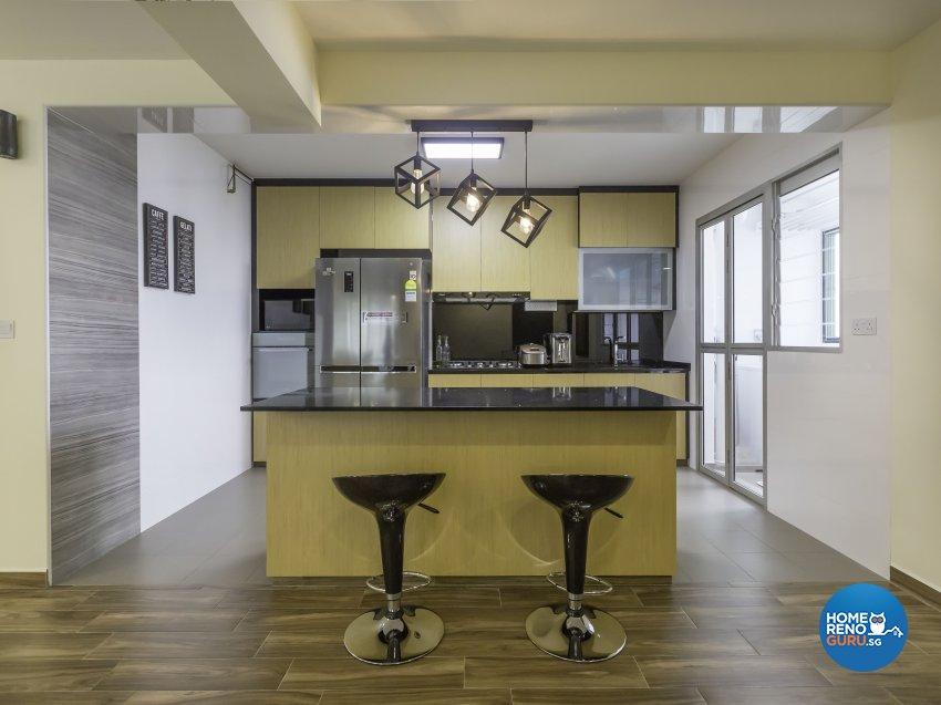 Industrial Design - Dining Room - HDB 5 Room - Design by ID Gallery Pte Ltd