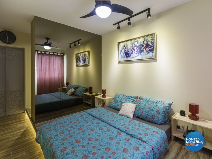 Industrial Design - Bedroom - HDB 5 Room - Design by ID Gallery Pte Ltd