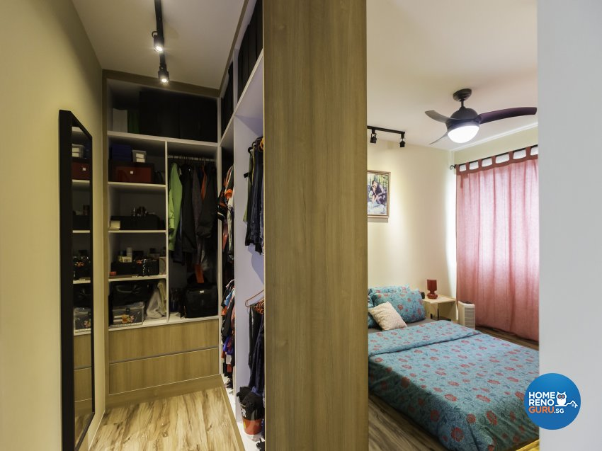 Industrial Design - Bedroom - HDB 5 Room - Design by ID Gallery Pte Ltd