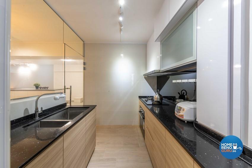 Modern Design - Kitchen - HDB 4 Room - Design by ID Gallery Pte Ltd