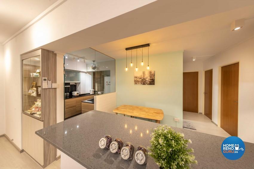 Modern Design - Dining Room - HDB 4 Room - Design by ID Gallery Pte Ltd
