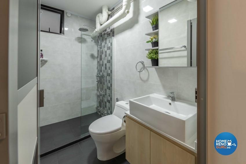 Modern Design - Bathroom - HDB 4 Room - Design by ID Gallery Pte Ltd