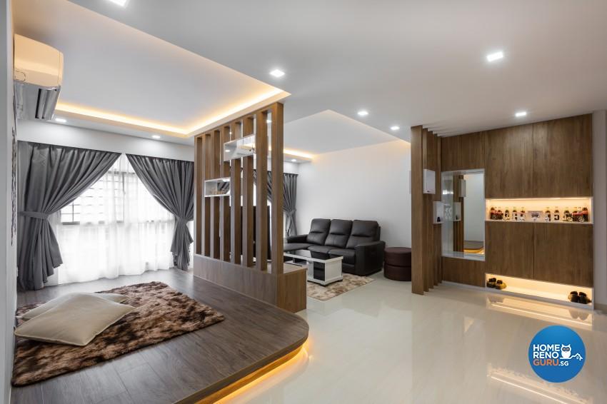 Modern Design - Living Room - HDB 4 Room - Design by ID Gallery Pte Ltd