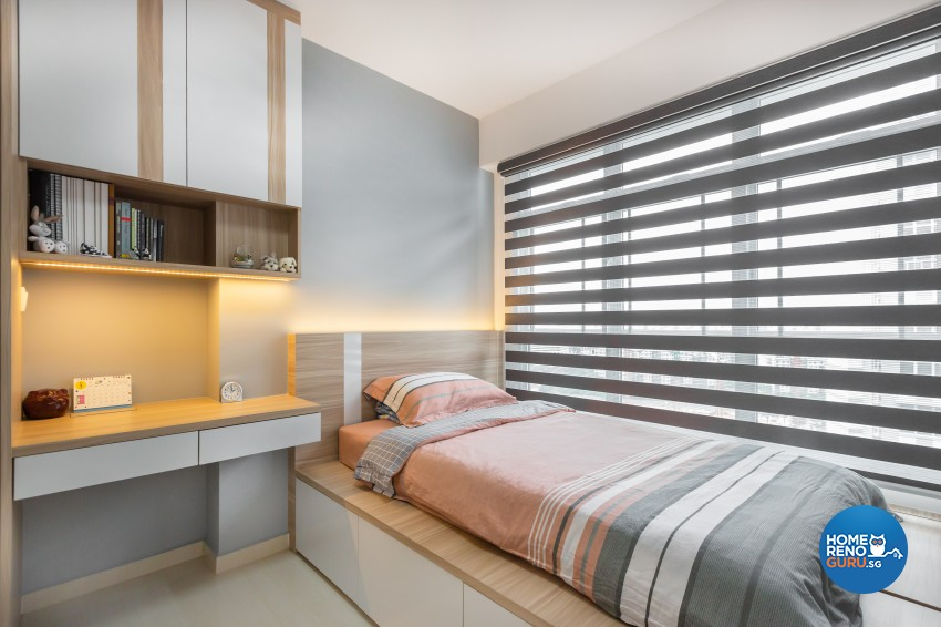 Modern Design - Bedroom - HDB 4 Room - Design by ID Gallery Pte Ltd