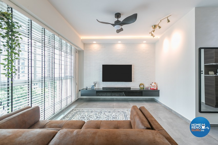 Contemporary, Modern Design - Living Room - HDB 4 Room - Design by ID Gallery Pte Ltd