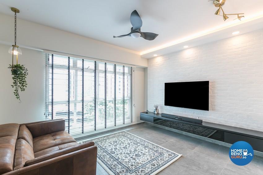 Contemporary, Modern Design - Living Room - HDB 4 Room - Design by ID Gallery Pte Ltd