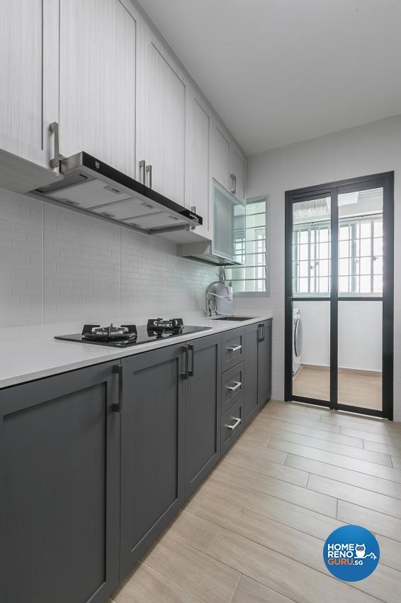 Contemporary, Modern Design - Kitchen - HDB 4 Room - Design by ID Gallery Pte Ltd
