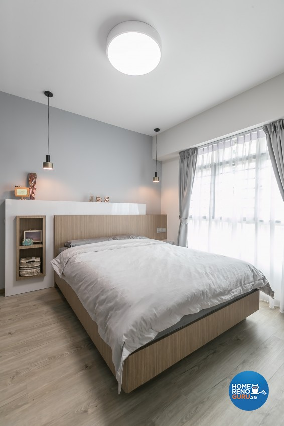 Contemporary, Modern Design - Bedroom - HDB 4 Room - Design by ID Gallery Pte Ltd