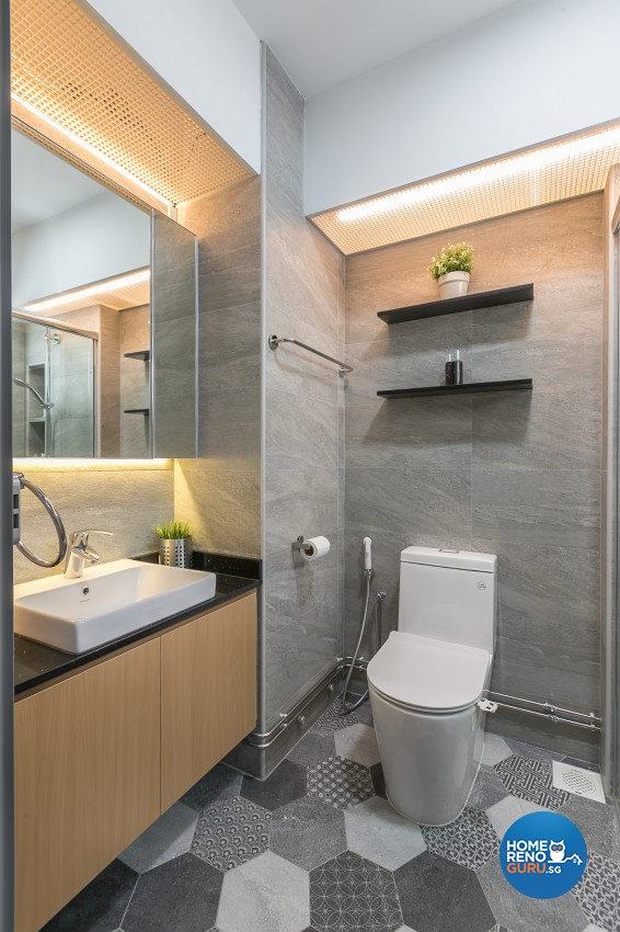 Contemporary, Modern Design - Bathroom - HDB 4 Room - Design by ID Gallery Pte Ltd