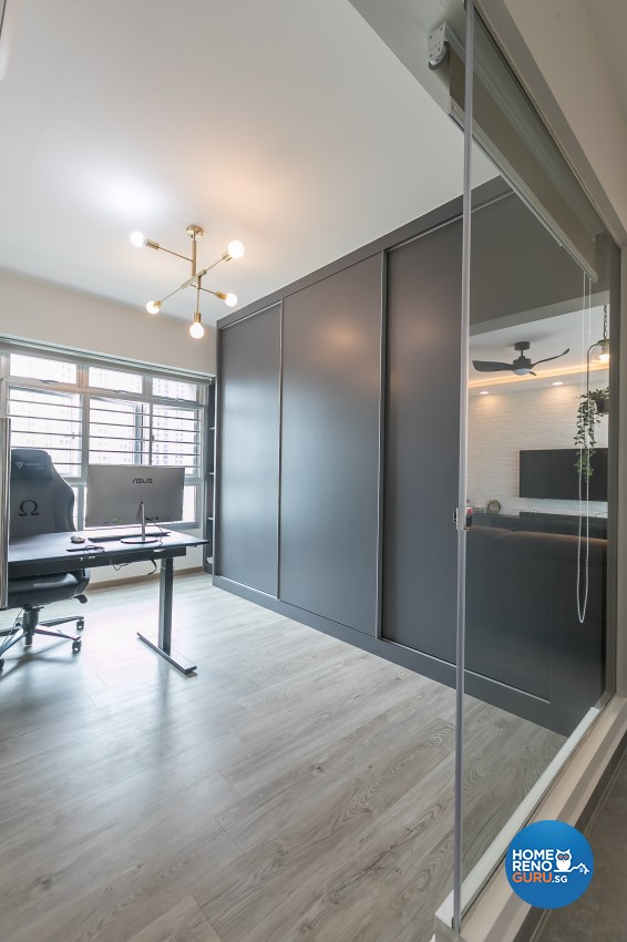 Contemporary, Modern Design - Study Room - HDB 4 Room - Design by ID Gallery Pte Ltd