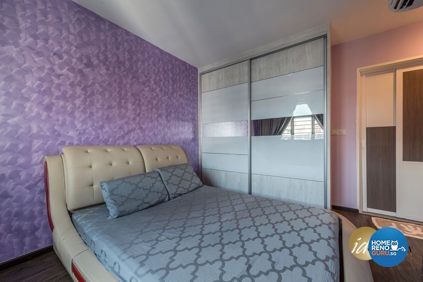 Contemporary Design - Bedroom - HDB 4 Room - Design by ID Gallery Pte Ltd