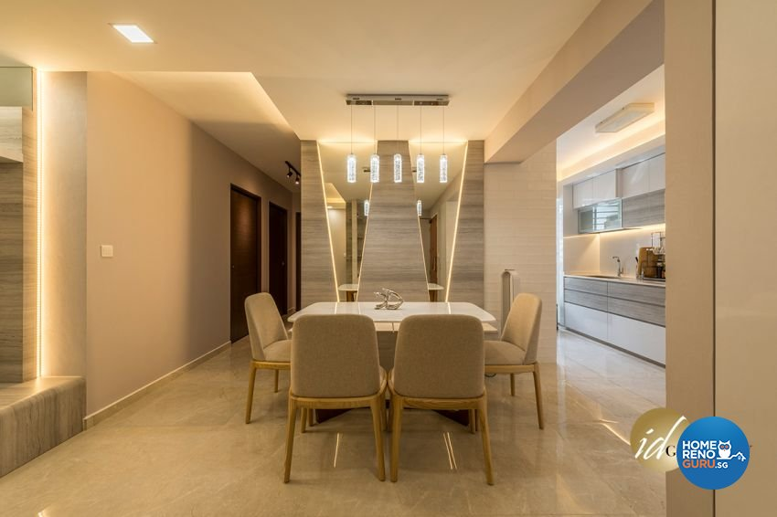 Contemporary Design - Dining Room - HDB 4 Room - Design by ID Gallery Pte Ltd