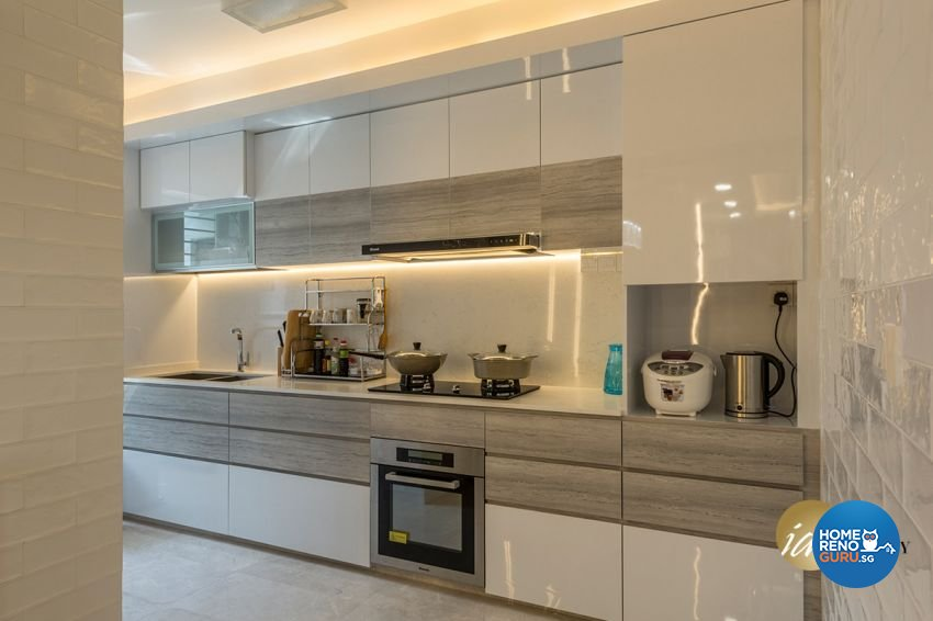 Contemporary Design - Kitchen - HDB 4 Room - Design by ID Gallery Pte Ltd