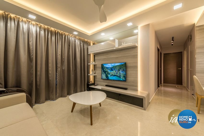 Contemporary Design - Living Room - HDB 4 Room - Design by ID Gallery Pte Ltd