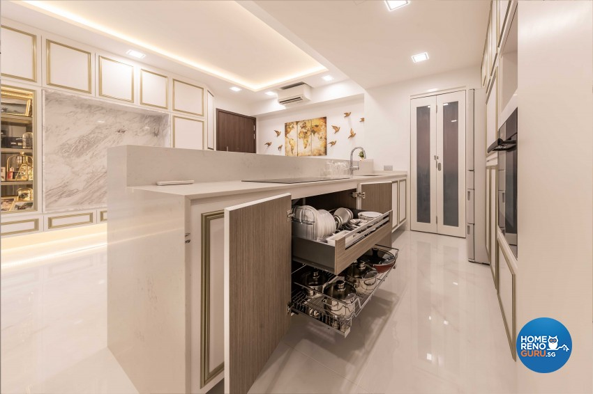 Modern, Victorian Design - Kitchen - Condominium - Design by ID Gallery Pte Ltd