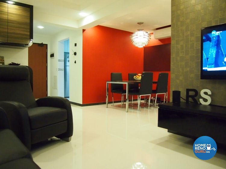 Contemporary, Modern Design - Living Room - HDB 4 Room - Design by ID Note Design & Build Pte Ltd