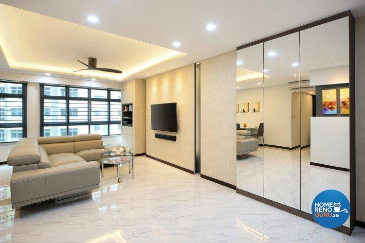 Contemporary, Modern Design - Living Room - HDB 5 Room - Design by Ideal Concept Design