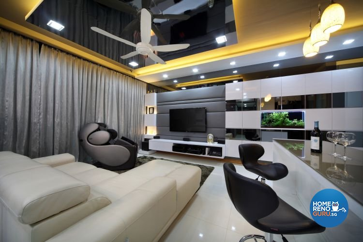 Contemporary, Eclectic, Modern Design - Living Room - Condominium - Design by Ideal Concept Design