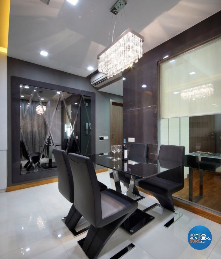 Contemporary, Eclectic, Modern Design - Dining Room - Condominium - Design by Ideal Concept Design