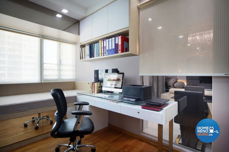 Contemporary, Eclectic, Modern Design - Study Room - Condominium - Design by Ideal Concept Design