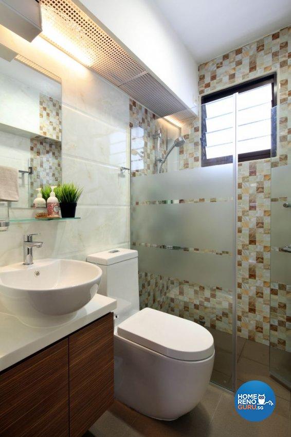 Contemporary, Modern Design - Bathroom - HDB 5 Room - Design by Ideal Concept Design