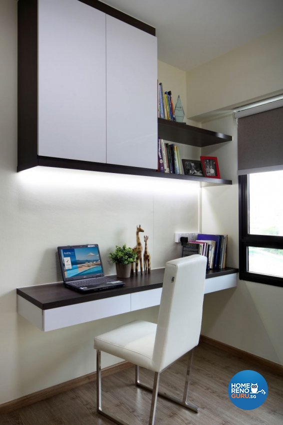 Contemporary, Modern Design - Study Room - HDB 5 Room - Design by Ideal Concept Design