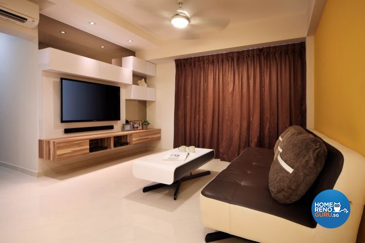 Contemporary, Modern Design - Living Room - HDB 5 Room - Design by Ideal Concept Design
