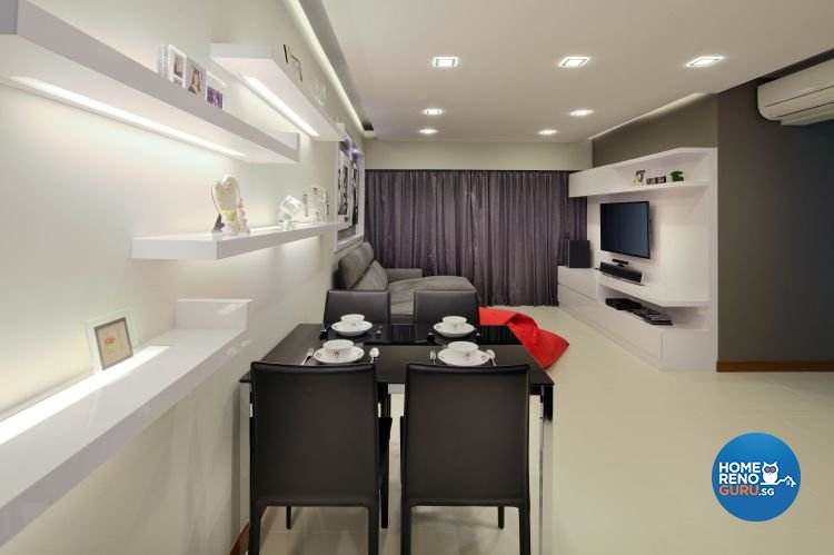 Contemporary, Minimalist, Scandinavian Design - Dining Room - HDB 5 Room - Design by Ideal Concept Design