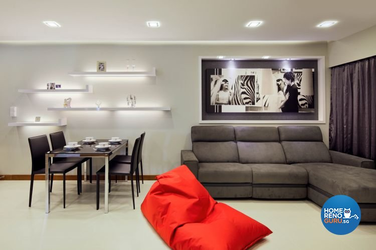 Contemporary, Minimalist, Scandinavian Design - Living Room - HDB 5 Room - Design by Ideal Concept Design
