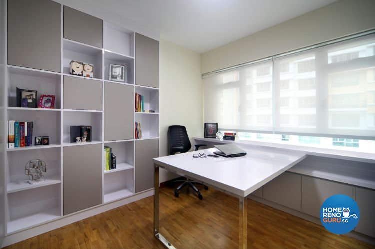 Contemporary, Minimalist, Scandinavian Design - Study Room - HDB 5 Room - Design by Ideal Concept Design