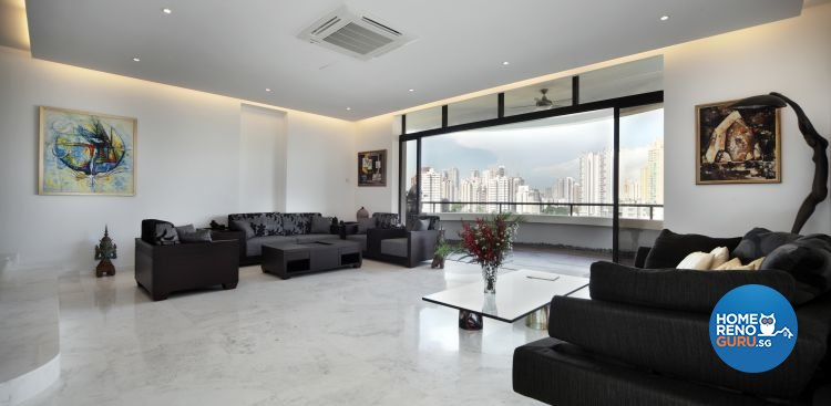 Contemporary, Minimalist, Modern Design - Living Room - Condominium - Design by Ideal Concept Design