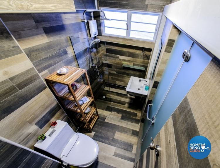 Country, Eclectic Design - Bathroom - HDB 4 Room - Design by Ideal Design Interior Pte Ltd