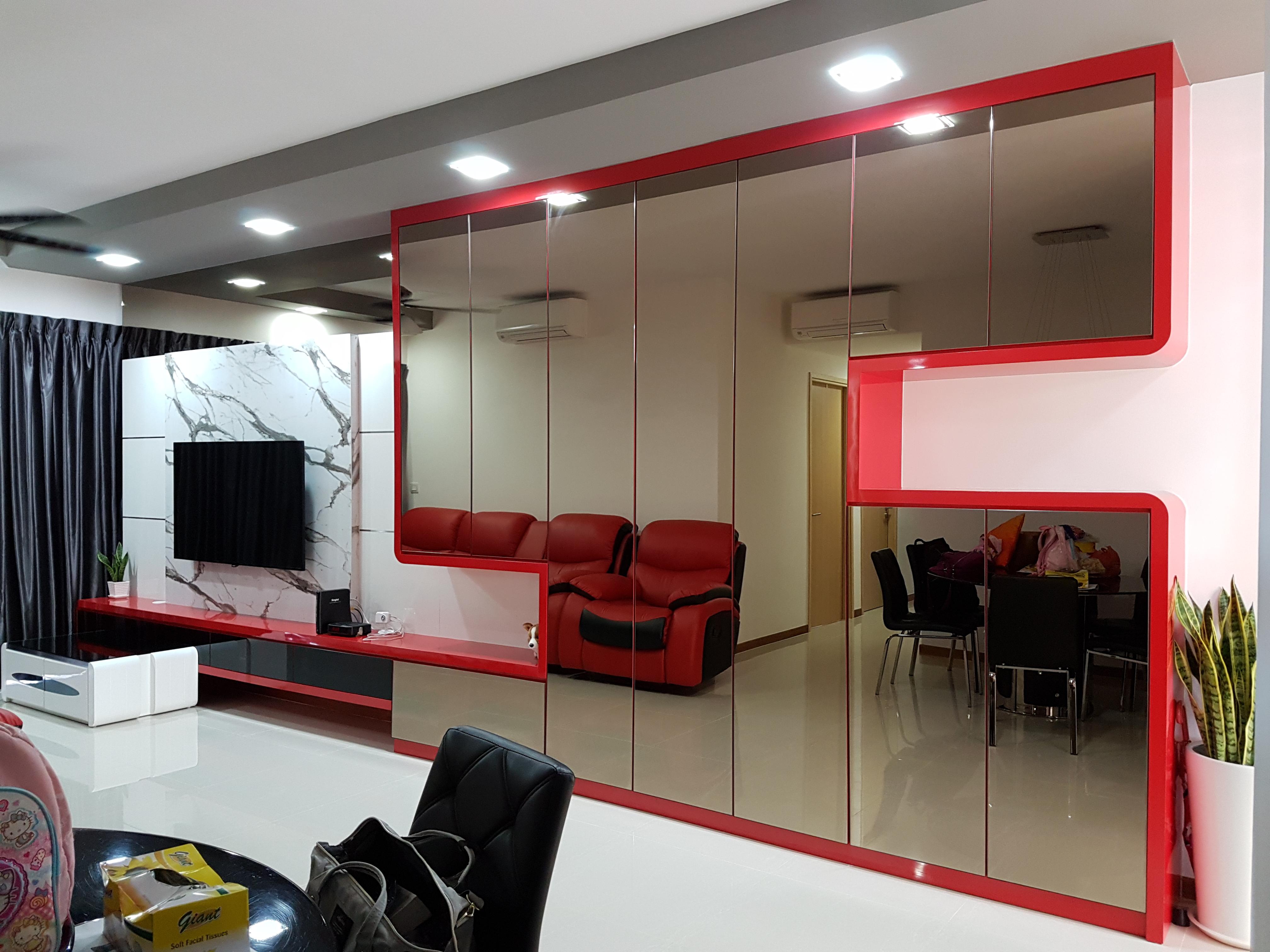 Contemporary Design - Living Room - Condominium - Design by Ideal Design Interior Pte Ltd