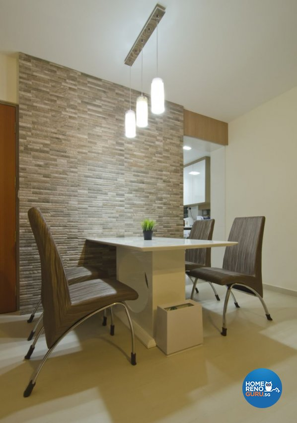 Contemporary, Industrial, Modern Design - Dining Room - HDB 5 Room - Design by Ideal Design Interior Pte Ltd
